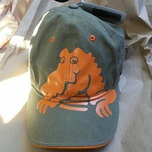 Kids youth cotton crocs army green orange hat cap